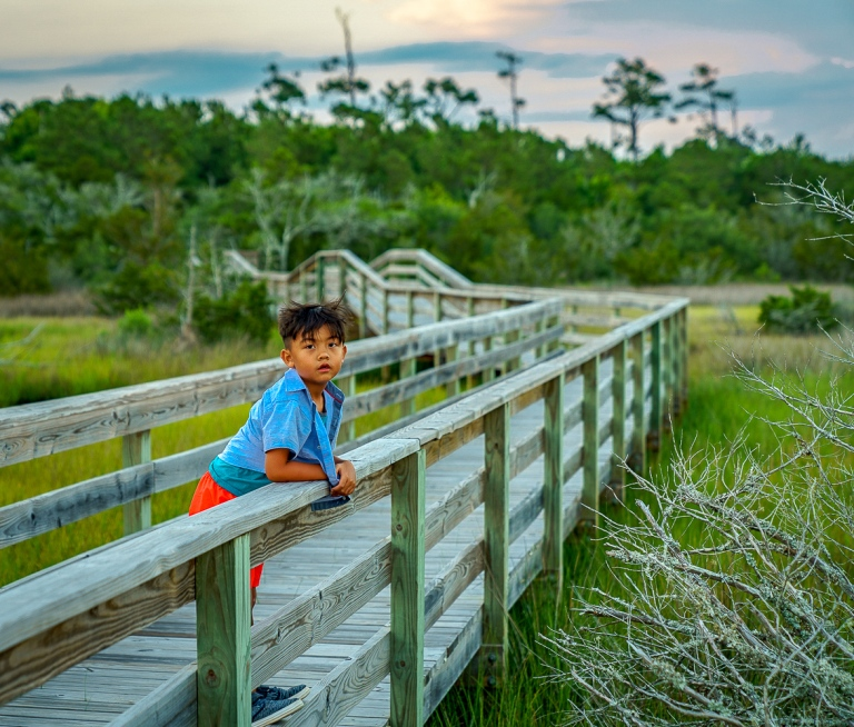 Boy on Pier NC